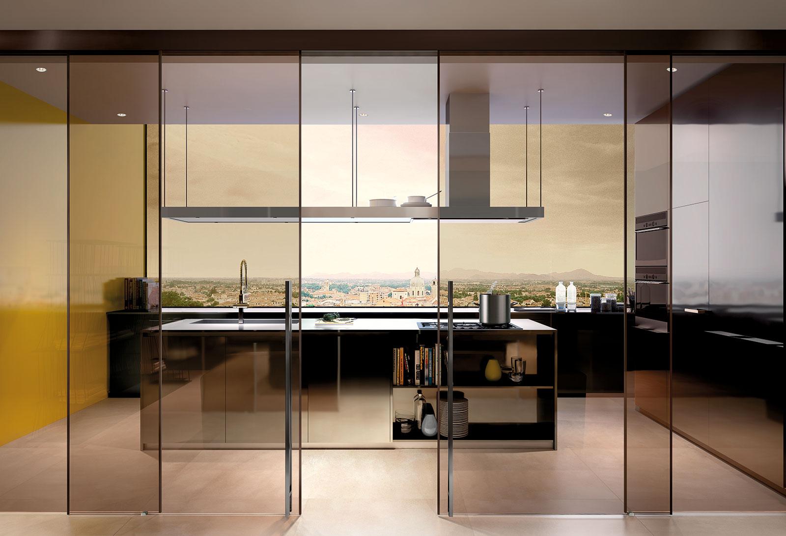Vendita e installazione porte esterno muro in vetro con ...